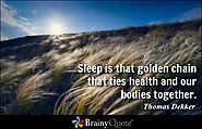 Sleep Quotes at BrainyQuote