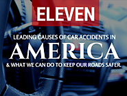 The top 11 causes of car accidents in America. Let's drive smart!