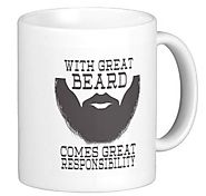 """With this beard comes great responsibility"" Mug"