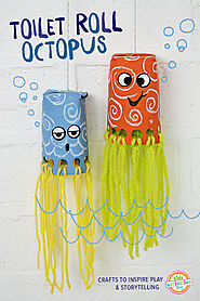 Toilet Roll Crafts For Kids - Wiggly Octopus