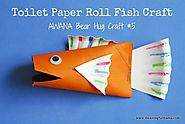 Toilet Paper Roll Fish - Awana Bear Hug #5 Craft