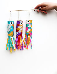 "Squirrelly Minds "" Koinobori - Japanese flying carp DIY"