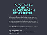 Importance of Hiring Professional Tech Support