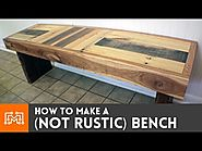 Video: How to make a (NOT RUSTIC) bench from reclaimed pallets
