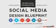 The Ridiculously Exhaustive Social Media Dimensions Blueprint (Infographic)