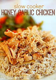 Slow Cooker Honey Garlic Chicken - Honey and Garlic. What else is neede?