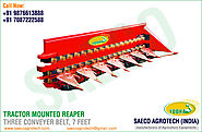 Tractor Mounted Reaper 3 Conveyer Belt
