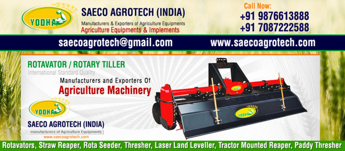 Headline for Rotavator, Rota Seeder, Thresher, Straw Reaper, Paddy Threshers and all type of Agriculture equipments in india