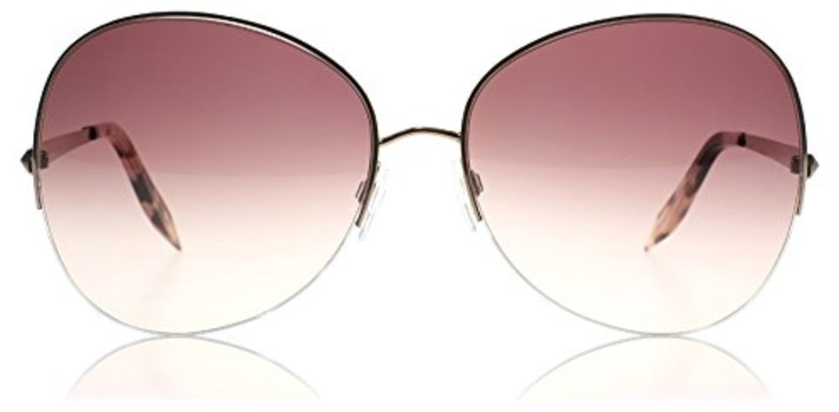 Headline for Buy Pink Victoria Beckham Aviator Sunglasses 2015