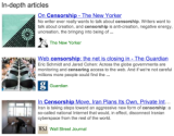 Google In-Depth Articles Explore Topics in Detail