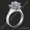 Lotus Ring 8 Petal .58 ct. Diamond Clean Split Shank Flower Ring bbr588-1