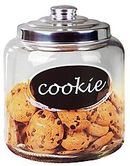 Home Basics Cookie Jar with Metal Top