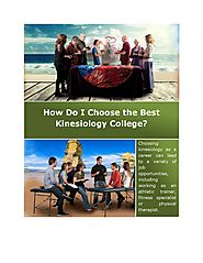 How Do I Choose the Best Kinesiology College?