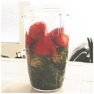Kale, Broccoli and Strawberries