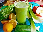 Broccoli-Apple-Lemon-Zucchini-Celery-Lettuce Juice