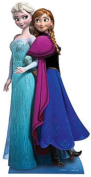 Frozen Anna and Elsa Cutout