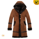 Women Hooded Sheepskin Coats CW695111 - cwmalls.com