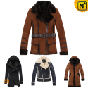Vintage Sheepskin Coat Women CW138720 - cwmalls.com