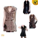 Sleeveless Fur Coat Designer CW148460 - cwmalls.com