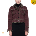 Vintage Sheepskin Shearling Jacket Women CW614081