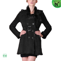 Women Sheepskin Coat Black CW640280