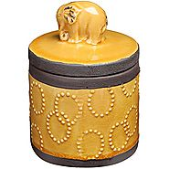 Rustic Chic Elephant Design Ceramic Storage Canister / Cookie Jars / Decorative Accessory Container
