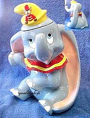 Walt Disney's Treasure Craft Dumbo and Timothy Mouse Cookie Jar - Kitchen Things