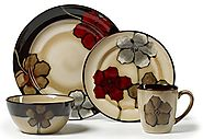Pfaltzgraff Painted Poppies Dinnerware Set
