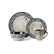 Pfaltzgraff Pastoral Leaves 16 Piece Dinnerware Set Stoneware, Assorted