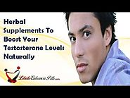 Herbal Supplements To Boost Your Testosterone Levels Naturally
