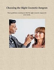 Choosing the Right Cosmetic Surgeon