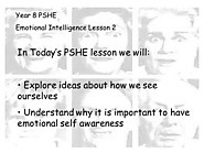 PHSE Full lesson powerpoint Emotional Intelligence