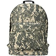 18 inch Army ACU Digital Camouflage Pattern Polyester Water-Resistant Outdoor Hiking Backpack School Book Bag for K-C...