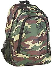 World Traveler Multipurpose Backpack 16-Inch, Green Camo, One Size