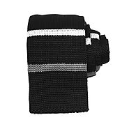Black & White & Grey Horizontal Knitted Ties