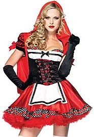 Little Red Riding Hood Style Apron Dress Costume
