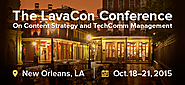 The LavaCon Conference on Content Strategy and TechComm Management