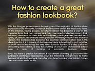 How to Create a Great Fashion Lookbook