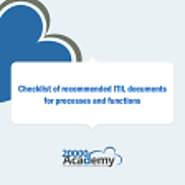 FREE checklist of recommended ITIL documents for processes and functions (PDF)