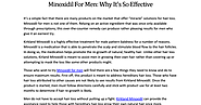 Get Minoxidil for Men from Minoxidil-Direct.Com