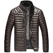 Chicago Men Brown Quilted Down Jacket CWMALLS