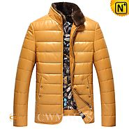 Down Jackets with Fur Collar CW846053 - cwmalls.com