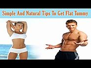 Simple And Natural Tips To Get Flat Tummy