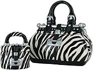 David's Cookies Zebra Handbag and TreatSize Jar