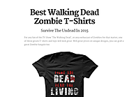 Best Walking Dead Zombie T-Shirts