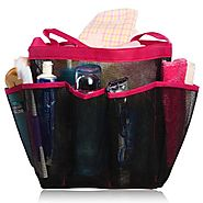 Shower Caddy - Quick Dry, Perfect For College & Dorm - Large Pockets To Carry Your Bathroom Accessories & Mirror - No...