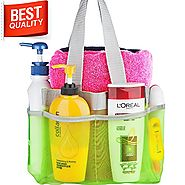 Shower Caddy - Quick Dry Hanging Toiletry and Bath Organizer with 7 Storage Compartments - Perfect Dorm, Gym ,Camp & ...