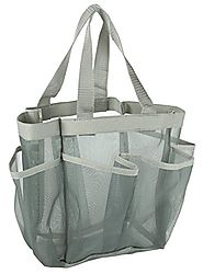 7 Pocket Shower Caddy Tote, Grey - Keep your shower essentials within easy reach. Shower caddies are perfect for coll...