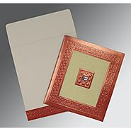 Designer Indian Wedding Invitations: | Card Code : (W-1411) |