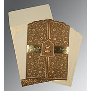Modern Muslim Wedding Cards: | Card Code : (I-1422) |